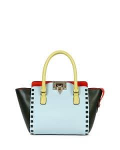 Valentino Four-Color Rockstud Micro Shopper Bag