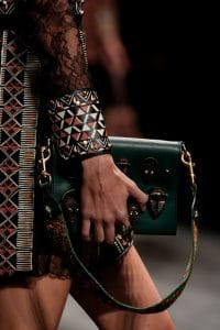 Valentino Green Embellished Flap Bag - Spring 2016