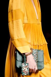 Valentino Green Hand-Painted Lock Flap Bag - Spring 2016