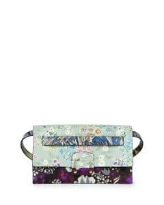 Valentino Green/Purple Floral Print Mime Belt Bag