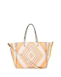 Valentino Multicolor Nylon Rockstud 1975 Reversible Tote Bag