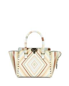 Valentino Multicolor Rockstud 1975 Micro Mini Shopper Bag
