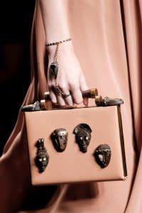 Valentino Pink Embellished Box Clutch Bag - Spring 2016