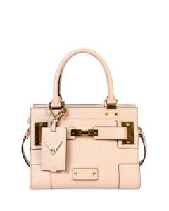 Valentino Taupe My Rockstud Mini Top-Handle Bag