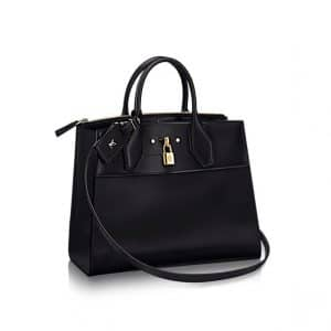 Louis Vuitton City Steamer MM Black Bag