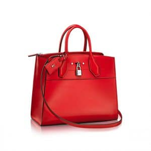 Louis Vuitton City Steamer MM Bag in Red