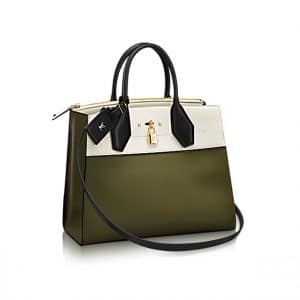 Louis Vuitton City Steamer PM Bag in Bicolor White