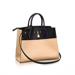 Louis Vuitton Bicolor City Steamer MM in Beige Bag