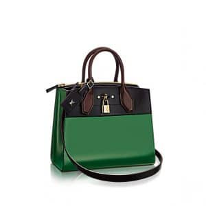 Louis Vuitton City Steamer PM Bag in Green Bicolor