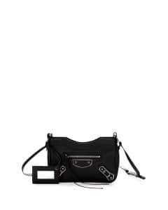 Balenciaga Black Metallic Edge Hip Bag