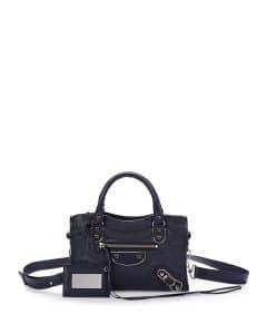Balenciaga Dark Blue Metallic Edge City Mini Bag