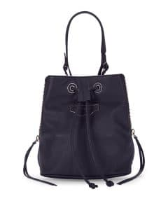 Balenciaga Dark Blue Papier Plate Bucket XS Bag