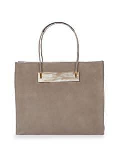Balenciaga Gray Nubuck Cable Shopper Tote Small Bag