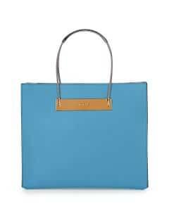 Balenciaga Light Blue Calfskin Cable Shopper Tote Small Bag