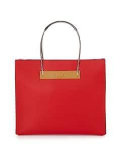 Balenciaga Red Calfskin Cable Shopper Tote Small Bag