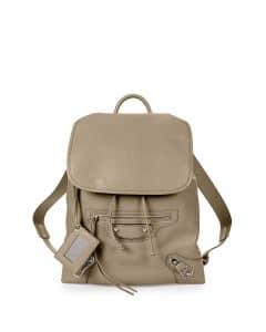 Balenciaga Taupe Metallic Edge Traveler Backpack Bag