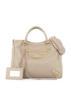Balenciaga Taupe Metallic Edge Velo Bag