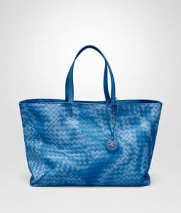 Bottega Veneta Bluette Intrecciolusion Tote Medium Bag