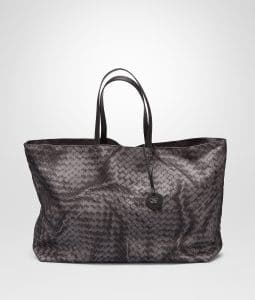 Bottega Veneta New Light Grey Intrecciolusion Tote Large Bag