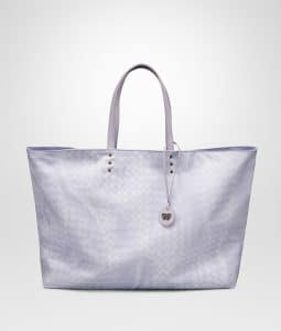 Bottega Veneta Oyster Intrecciolusion Tote Large Bag