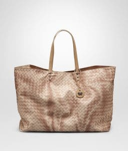 Bottega Veneta Sand Intrecciolusion Tote Medium Bag