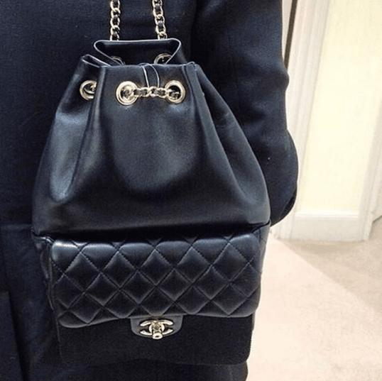 b214aa679524 Chanel Black Backpack In Seoul Large Bag 2. IG  openstore.ru