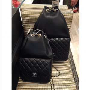 Chanel Black Backpack In Seoul Small and Large Bags