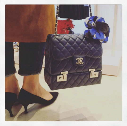 Chanel Black Flap with Attached Compartment Bag - Spring 2016