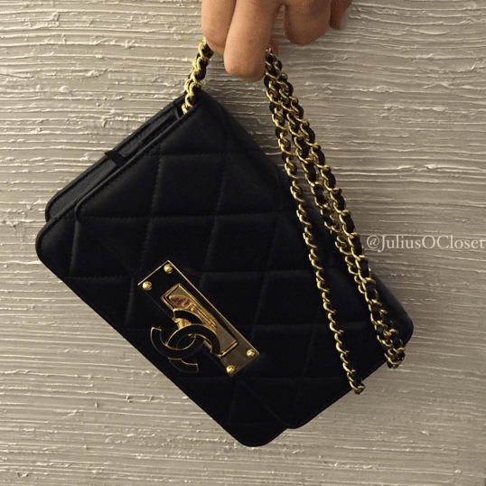 Chanel Black Golden Class WOC Bag 2