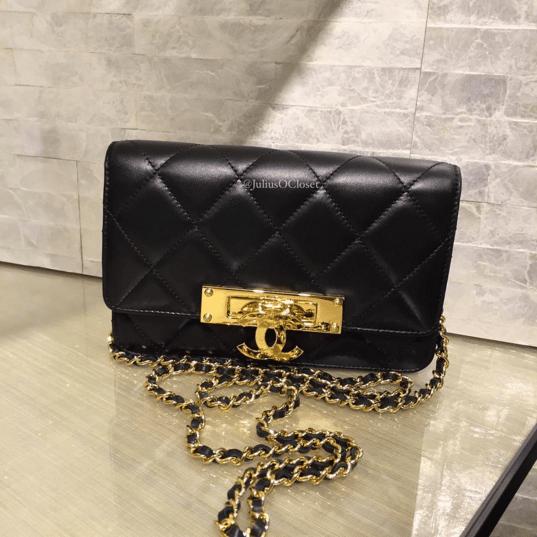 Chanel Black Golden Class WOC Bag 3
