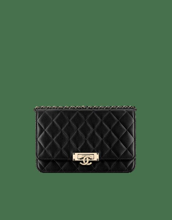Chanel Black Golden Class WOC Bag