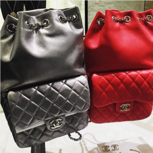 Chanel Black Large and Red Small Backpack In Seoul Bags