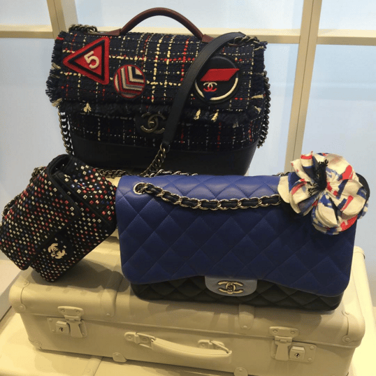 Chanel Blue Flap and Tweed Shoulder Bags - Spring 2016