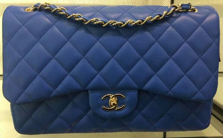 Chanel Blue Medium Classic Flap Bag Cruise 2017