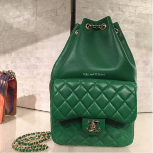 Chanel Green Backpack In Seoul Small Bag