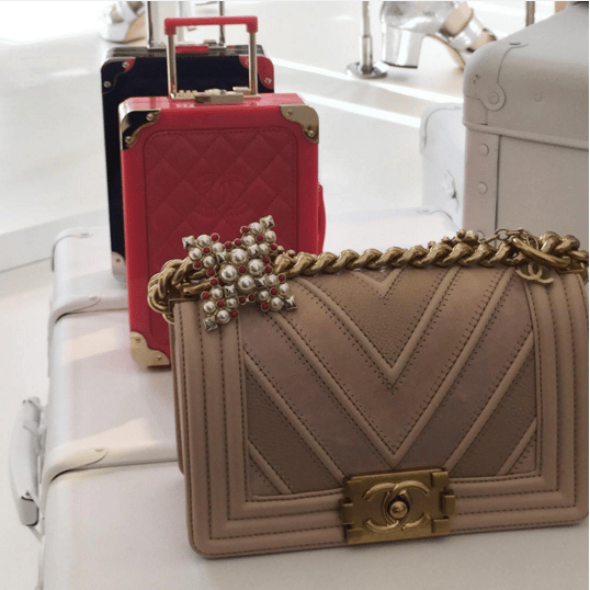 Chanel Mini Suitcase Clutch and Chevron Boy Flap Bags - Spring 2016