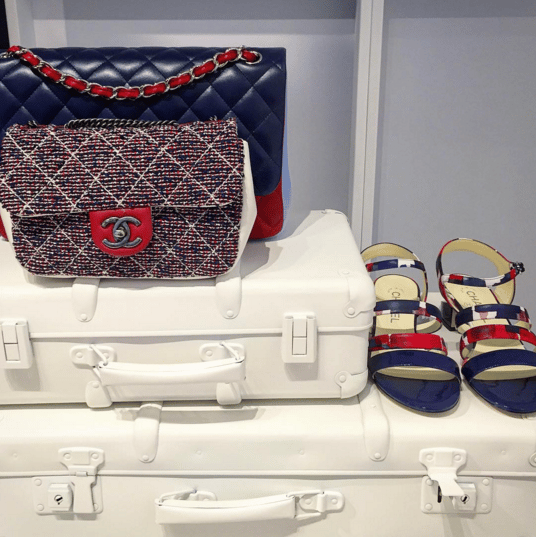 Chanel Multicolor Tweed and Red/Blue Flap Bags - Spring 2016