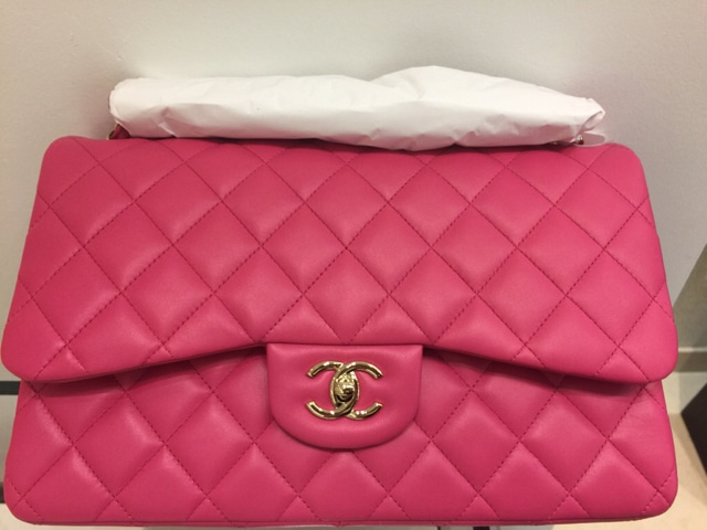 928cc8ac87b8 Chanel Pink Classic Flap Medium Bag - Cruise 2016
