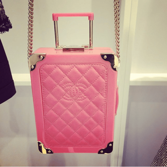 Chanel Pink Mini Suitcase Clutch Bag - Spring 2016