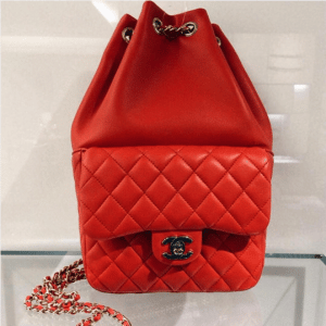 Chanel Red Backpack In Seoul Large Bag