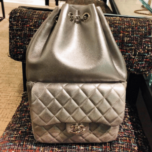Chanel Silver Backpack In Seoul Large Bag