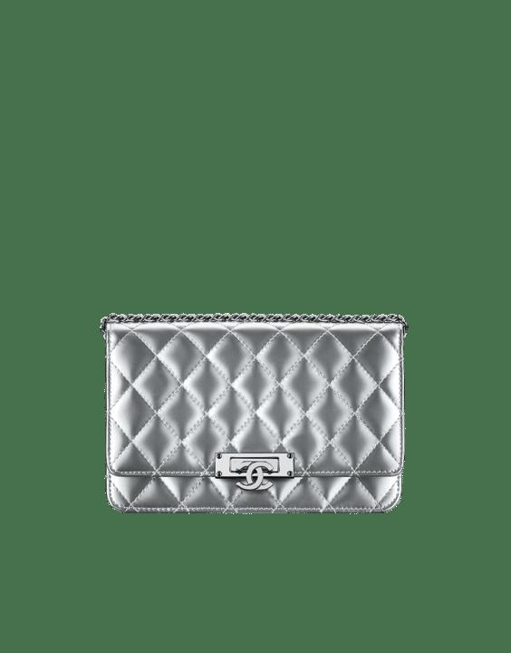 Chanel Silver Golden Class WOC Bag