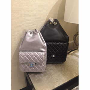 4b77659b9589cb ... Chanel Silver Small and Black Large Backpack In Seoul Bags ...