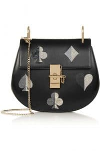 Chloe Black Embroidered Drew Small Bag