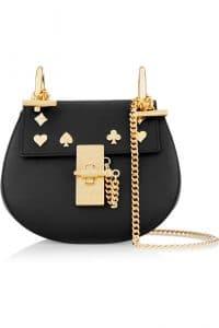 Chloe Black Studded Drew Nano Bag