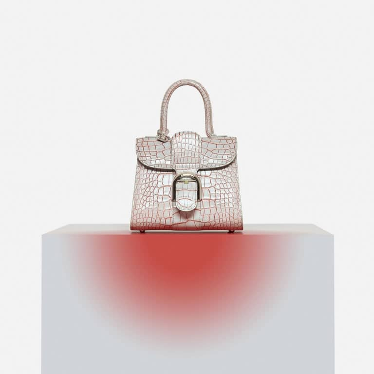 Delvaux Lin/Piment Alligator Eclipse Brillant Mini Bag