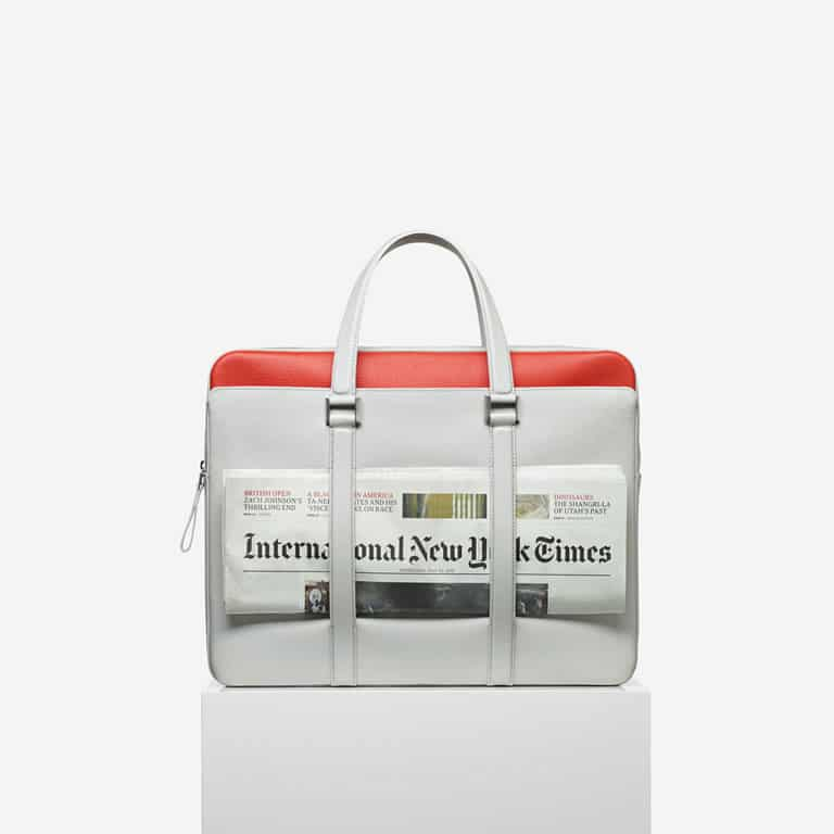 Delvaux Lin/Piment Newspaper Bag