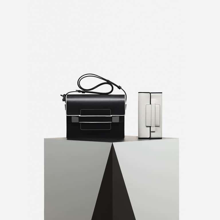 Delvaux Noir/Ivory Madame / Madame Portefeuille Long Bags