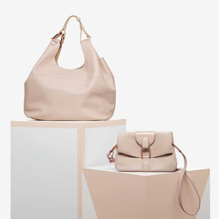 Delvaux Nude Givry With Me / Nubuck and Alligator Givry Mini Bags