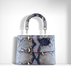 Dior Multicolor Hand-Painted Python Be Dior Small Bag